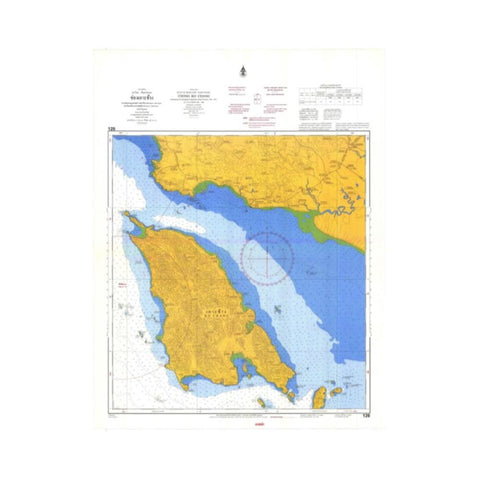 Marine Chart Thailand (Gulf of Thai - East) 120 Chong Ko Chang