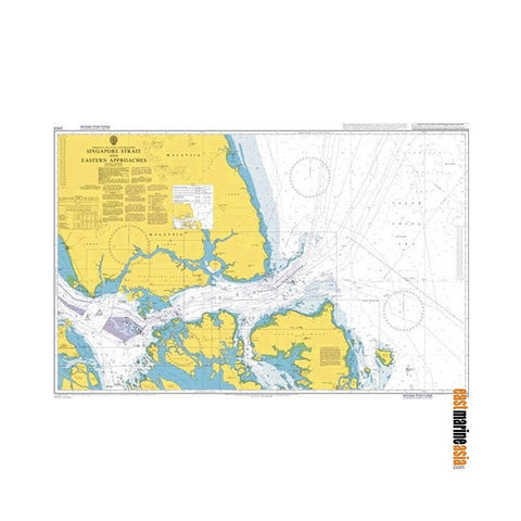 British Admiralty Nautical Chart #2403 Singapore Strait and Eastern Approaches