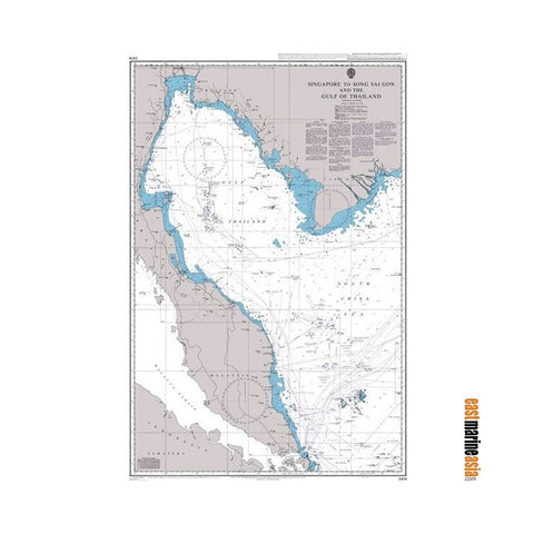 British Admiralty Nautical Chart #2414 Singapore to Song Sai Gon and The Gulf of Thailand