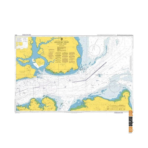 British Admiralty Nautical Chart #3831 Indonesia, Malaysia and Singapore, Singapore Strait, Eastern Part