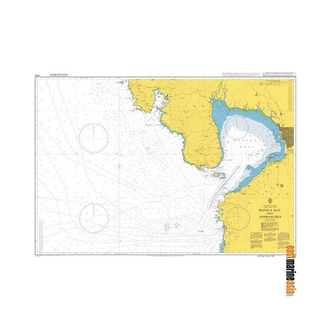 British Admiralty Nautical Chart #4491 Manila Bay and Approaches