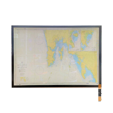 British Admiralty Framed Nautical Chart #3941 Mu Ko Similan to Ko Lanta Yai (Phuket Island)