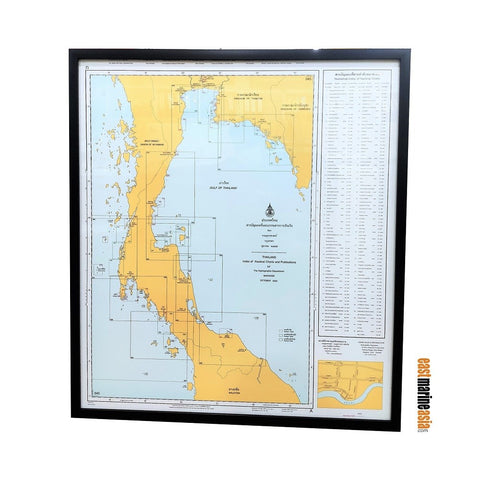 Marine Chart Thailand Framed Nautical Charts Index
