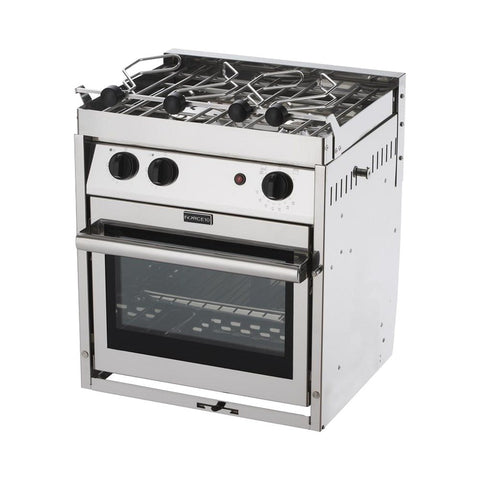 Force 10 Galley Ranges 2 Burner Gimbaled Marine Stove with Oven & Grill - American Standard