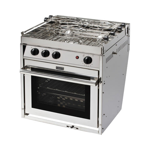 Force 10 Galley Ranges 3 Burner Gimbaled Marine Stove with Oven & Grill - American Standard