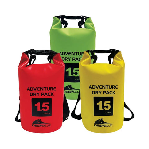 Deep Blue Adventure Dry Pack / Dry Bag - 1.5 L