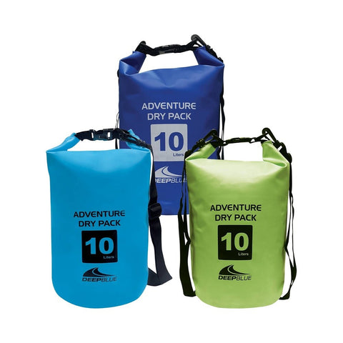Deep Blue Adventure Dry Pack / Dry Bag - 10 L