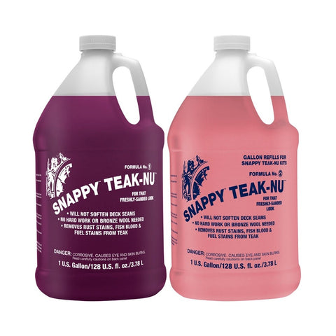 Snappy Teak-Nu Two-Part Teak Cleaner