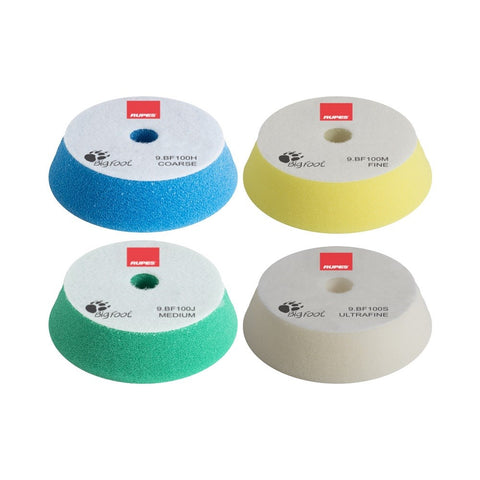 Rupes BigFoot 80 - 100 mm Foam Polishing Pads for Random Orbital and Triple Action Polishers