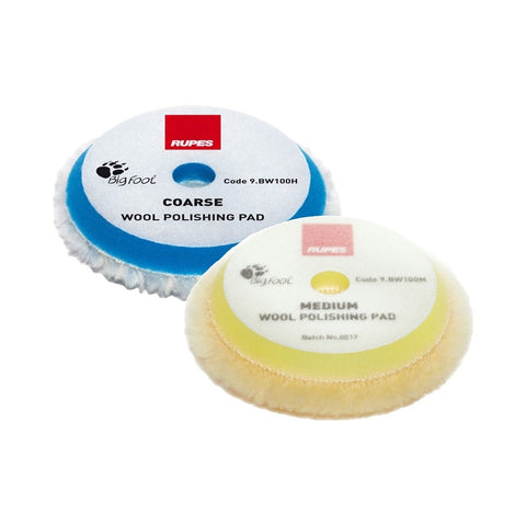 Rupes BigFoot 80 - 90 mm Wool Polishing Pads for Random Orbital, Gear Driven and Triple Action Polishers