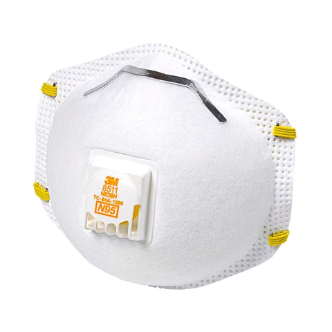 3M 8511 N95 Particulate Respirator with Vent Valve