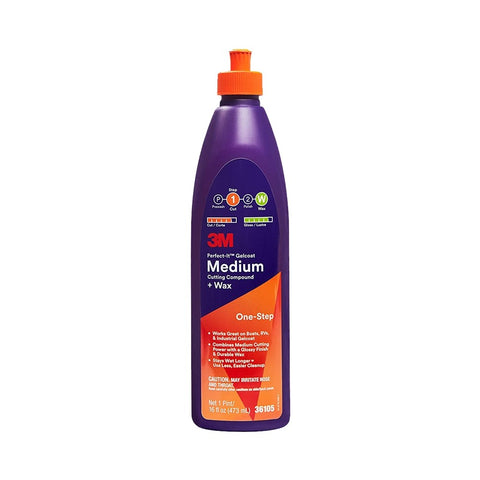 3M Perfect-It One-Step Gelcoat Medium Cutting Compound + Wax