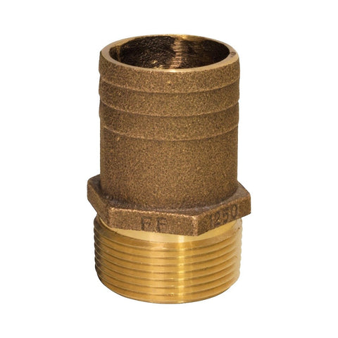 Groco FF Series Bronze Pipe to Hose Full Flow Fittings - NPT