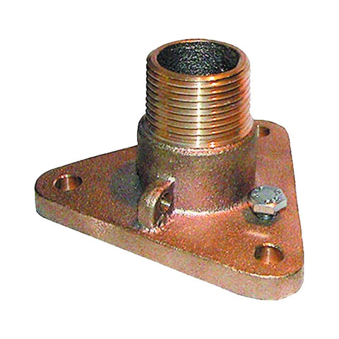 Groco IBVF Series Bronze Flanged Adaptor for Ball Valve and Thru-Hull - NPS to NPT