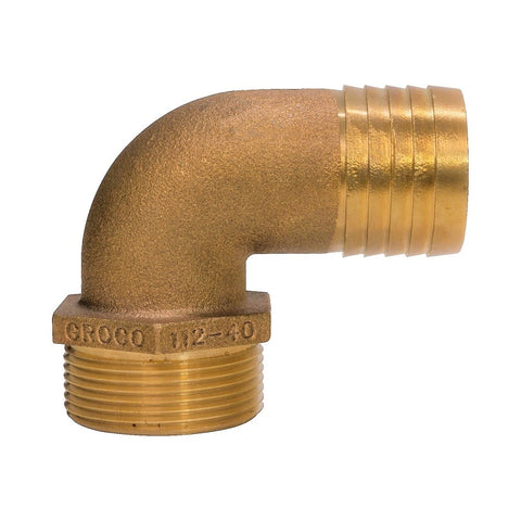 Groco PTHC Series 90° Bronze Pipe to Hose Standard Flow Fittings - BSPP