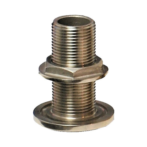 Groco TH Series 316 Stainless Steel Thru Hull Fittings with Nut - NPS