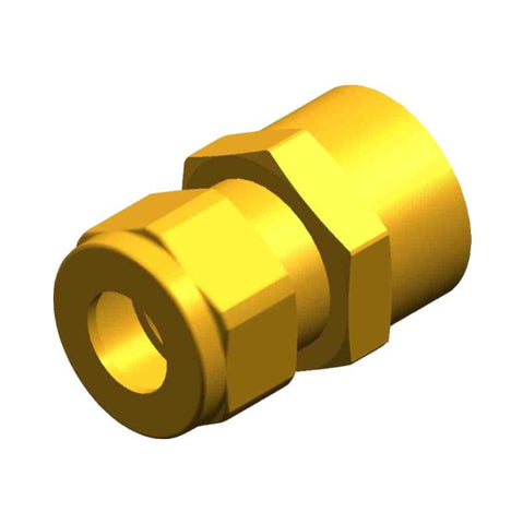 "Whale Quick Connect Threaded 1/2"" BSP Male Adaptor - Female 10 mm Compression Fitting Brass"