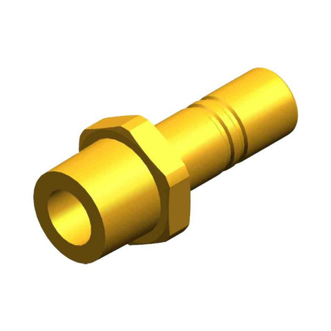 "Whale Quick Connect 15 mm Stem Adaptor  - Threaded 1/2"" NPT Male With 15 mm Stem With Non Return Valve Brass"