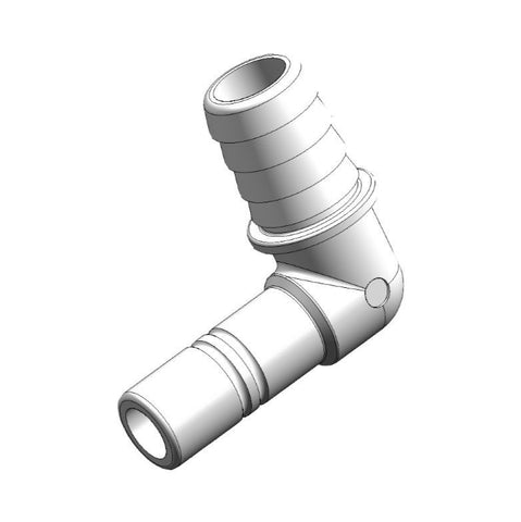 "Whale Quick Connect 15 mm Stem Connector - 1/2"" Hose Connector Elbow (Pack of 2)"