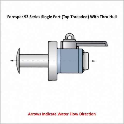 Forespar 93 Series Single Port (Top Threaded) With Thru-Hull