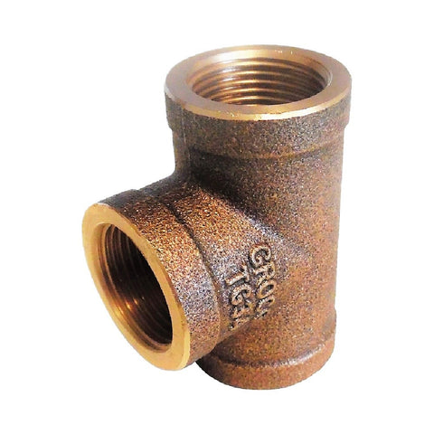 Groco Bronze Tee Fittings - BSPP