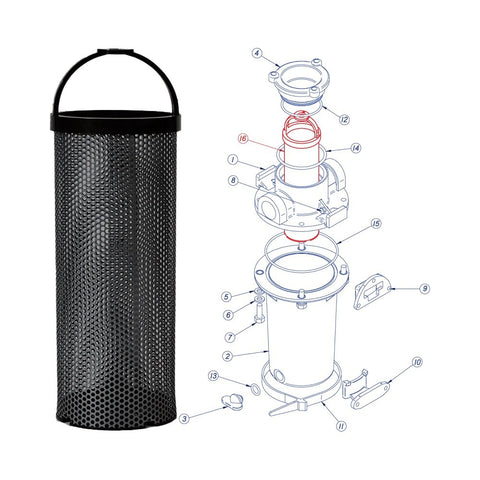 Groco ARG Series Replacement Filter Basket - Monel