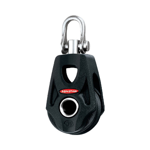 Ronstan Series 30 BB Single Orbit Block - Becket Hub, Swivel Shackle Head