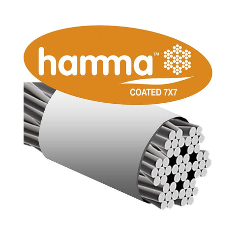 Hamma Coated 7x7 316 Stainless Steel White PVC Wire Rope