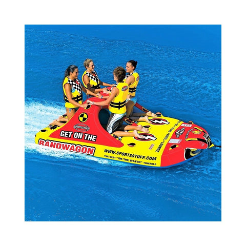 Sportsstuff Bandwagon 2+2 Inflatable 4-Rider Towable