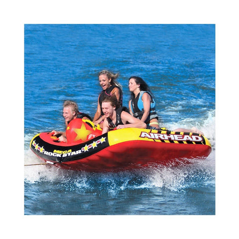 Airhead Mega Rock Star Inflatable 6-Rider Towable