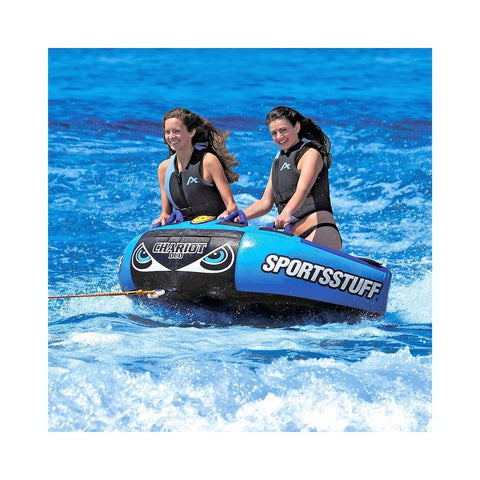 Sportsstuff Chariot Duo Inflatable 2-Rider Towable / Floating Lounge