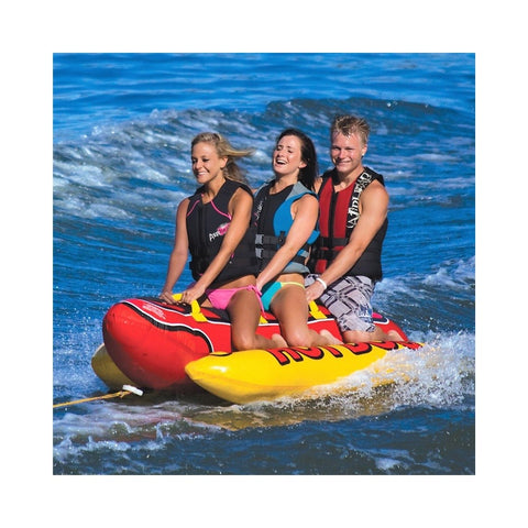 Airhead Hot Dog Inflatable 3-Rider Towable