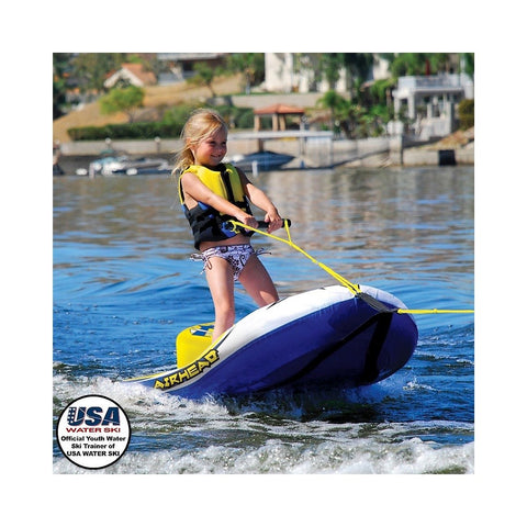 Airhead EZ Ski Inflatable 1-Rider Towable Water Ski Hybrid