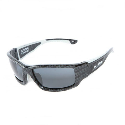 Barz Optics Floater Acetate Polarised Sunglasses, Carbon Fibre, Grey