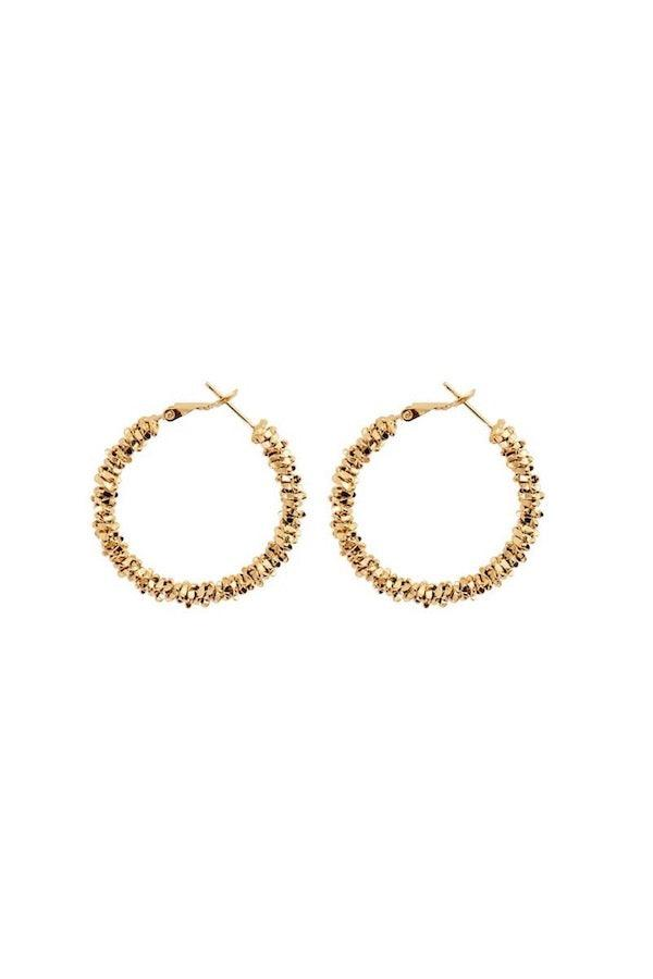 Carly Paiker | Seafaring Hoops Gold - Large | Girls with Gems