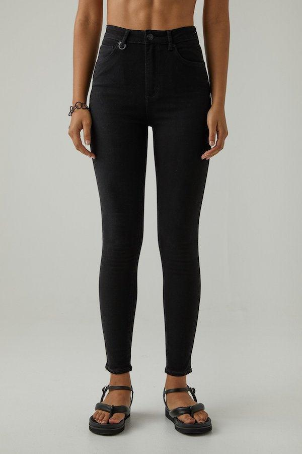 Neuw Denim | Marilyn Skinny Jean Blackest | Girls with Gems