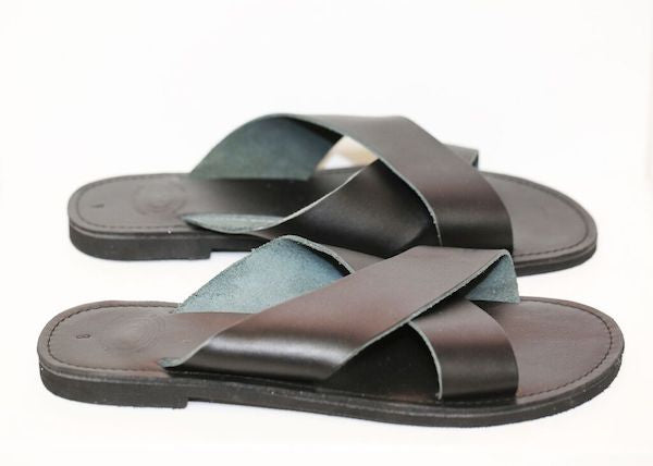 Criss Cross Sandals Black