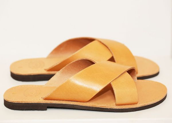 Criss Cross Sandals Tan