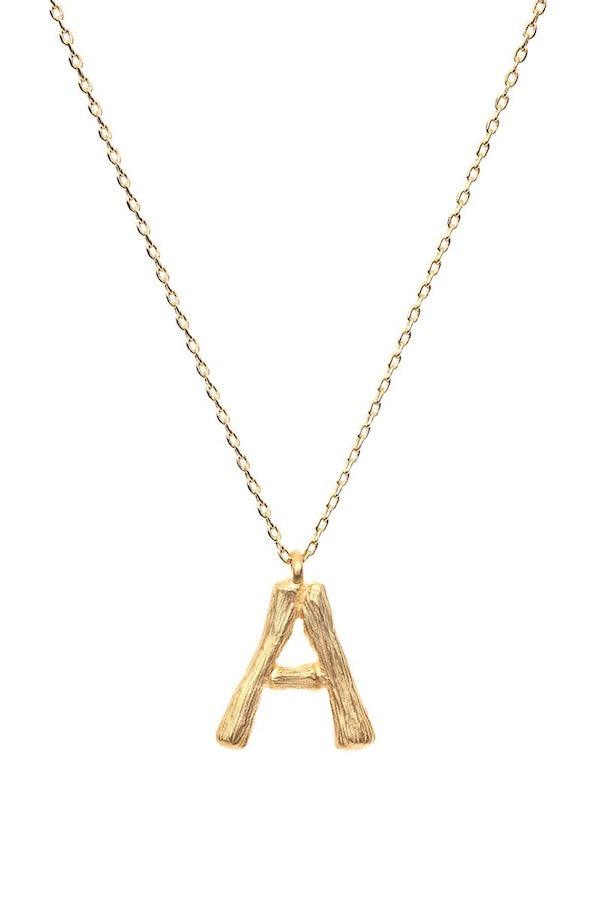 Amber Sceats | Letter Necklace - A | Girls with Gems