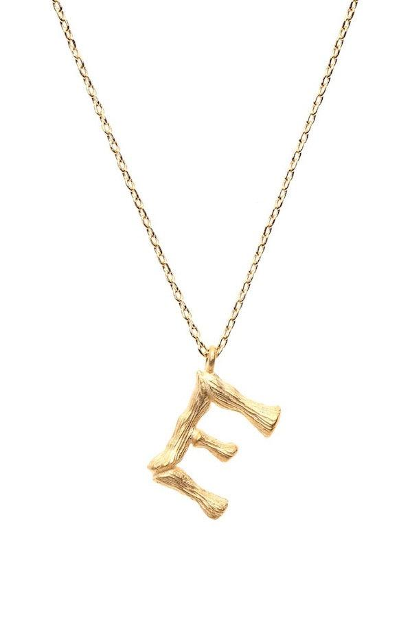 Amber Sceats | Letter Necklace - E | Girls with Gems