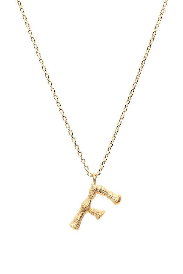 Amber Sceats | Letter Necklace - F | Girls with Gems