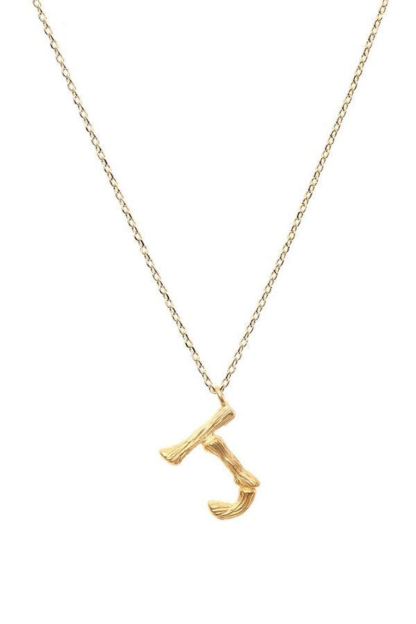 Amber Sceats | Letter Necklace - J | Girls with Gems