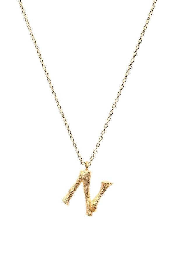 Amber Sceats | Letter Necklace - N | Girls with Gems