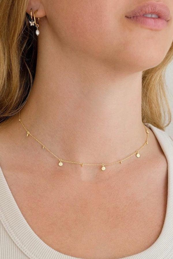 By Charlotte | Gold Guiding Light Chocker | Girls with Gems