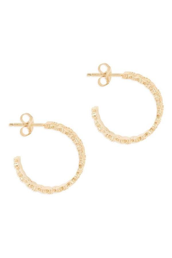 By Charlotte | Gold Dream Weaver Hoops | Girls with Gems