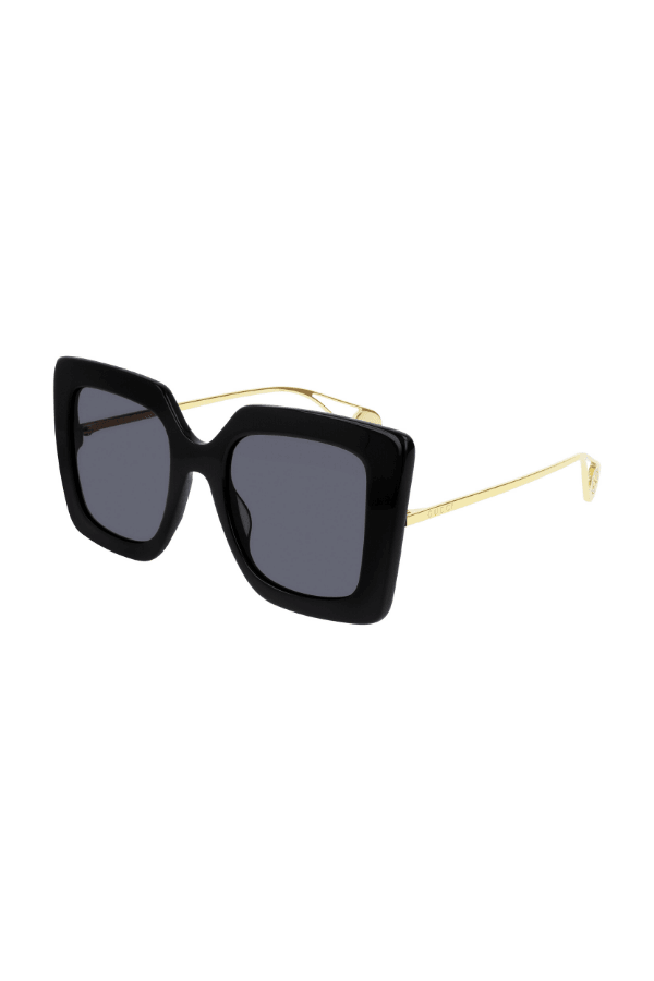 Gucci | Oversize Square-Frame Metal Sunglasses Black | Girls With Gems