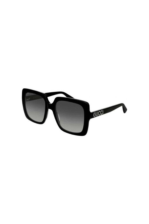 Oversized Square Frame Glasses Black