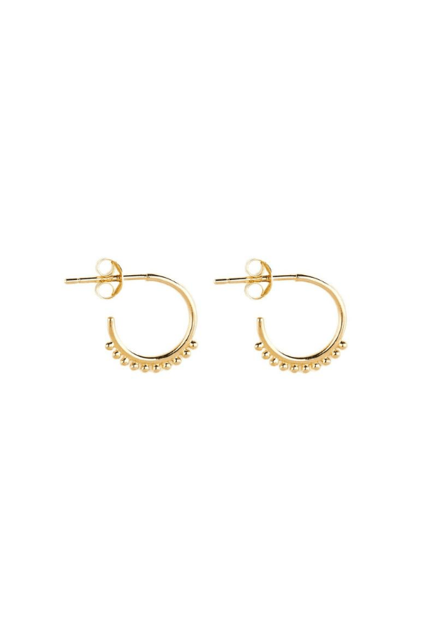 By Charlotte | Gold Cherish Hoop Earrings | Girls with Gems