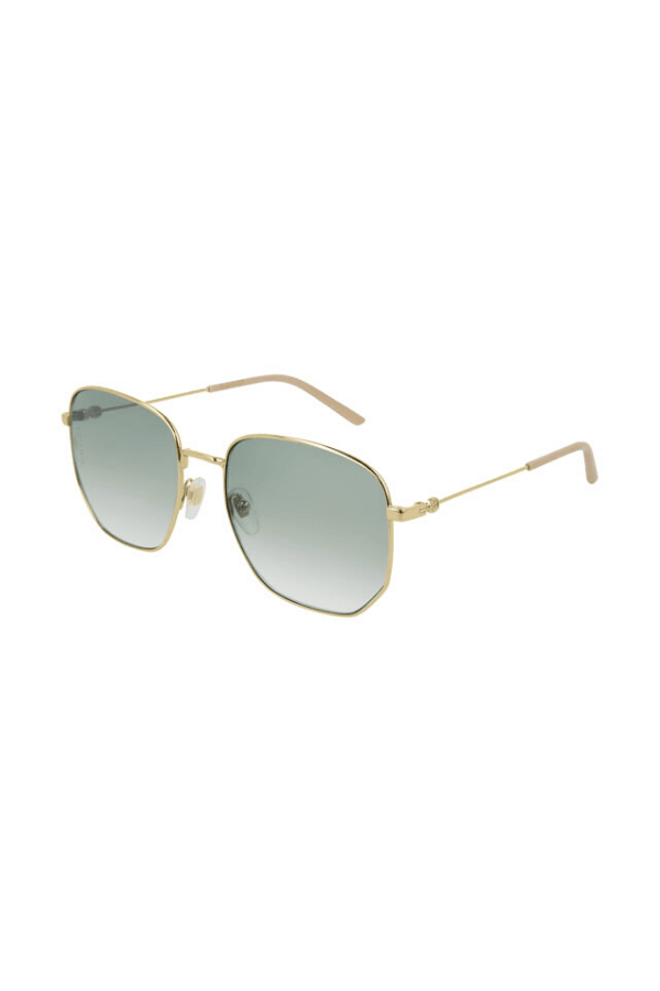 Gucci | Rectangular Frame Metal Glasses Blue Gold | Girls With Gems