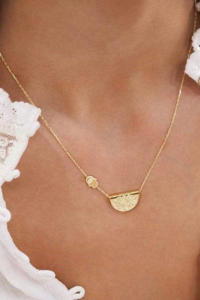 By Charlotte | Gold Sacred Guardian Necklace | Girls with Gems